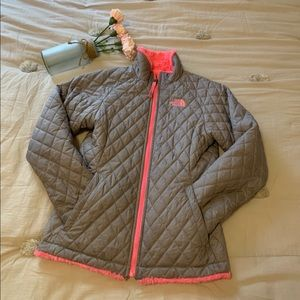 The north face mossbud swirl jacket girl 10-12 yr